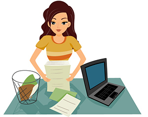 writer editing